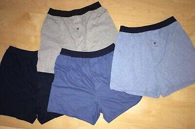 Hanes Mens Size Medium Comfort Soft Boxer Shorts Blue Black Gray Lot of 4 Briefs Gray Cotton Boxer Shorts