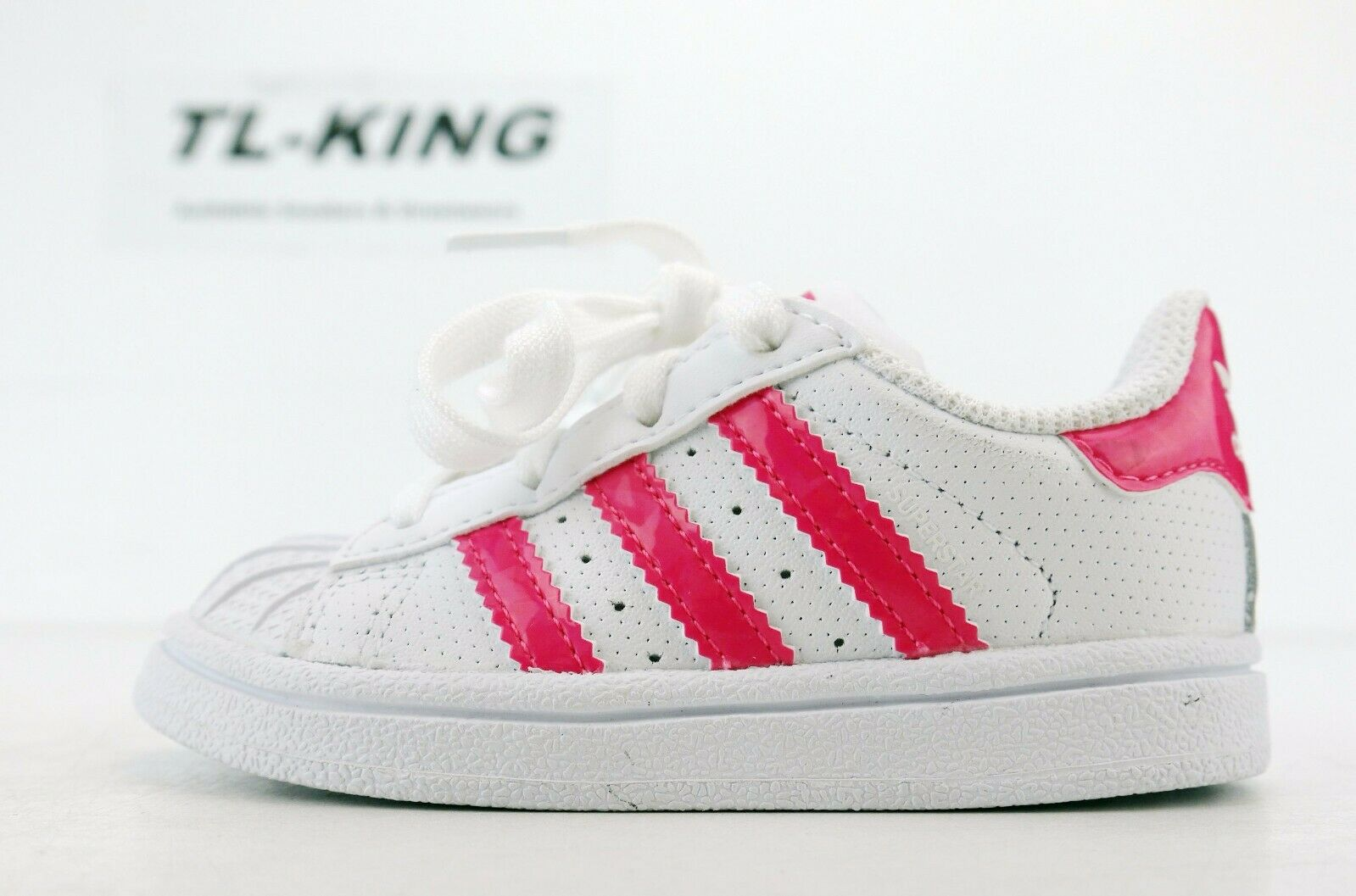 Adidas Originals Superstar I Baby Toddler Shell Toe White Pink Gold DB1213 LB