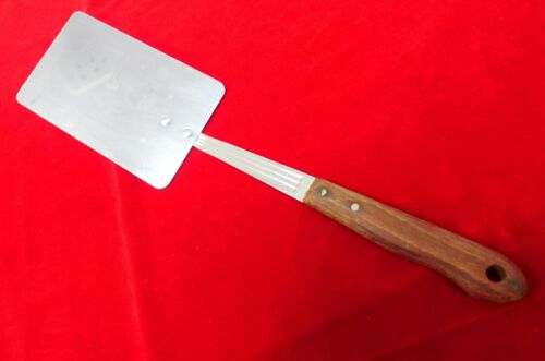 """Imperial Stainless Veri-Sharp Wooden Handle Spatula 12"""" Long Made USA"""