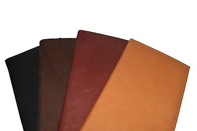 Plain Holder - Checkbook Cover Holder Super Slim Plain Mens Womens Genuine Leather Cowhide New