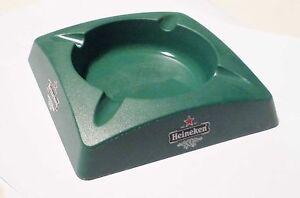 HEINEKEN-BEER-Plastic-ASHTRAY-Green-SINGAPORE-Rare-Italy-4-75-Square