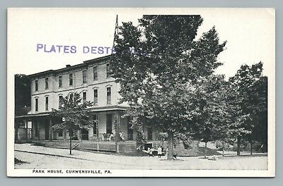 Park House Hotel Curwensville Pa Clearfield County Pennsylvania Printers Card