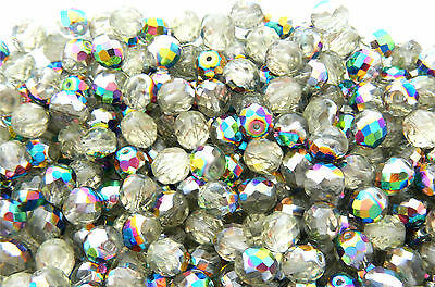 1200 PCS WHOLESALE 6mm CZECH GLASS FIRE POLISHED ROUND BEADS - JONQUIL VITRAIL
