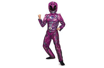 Girls Power Rangers Pink Ranger Deluxe Halloween Dress-Up Costume & Mask~L 10-12 - Girl Power Ranger Halloween Costume
