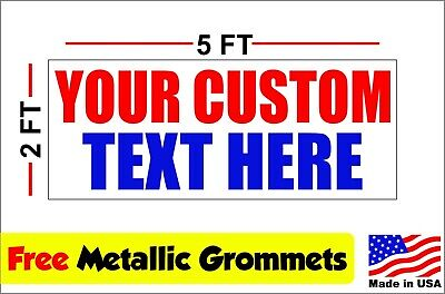 CUSTOM TEXT Vinyl Banner Sign 13oz 2ft x 5ft Best Price and (Best Banner And Sign)
