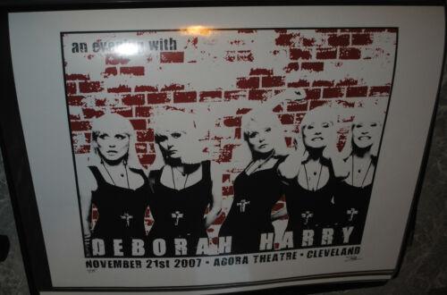 Deborah Harry (Blondie) Cleveland 2007 concert poster #/75 rare VIP art print