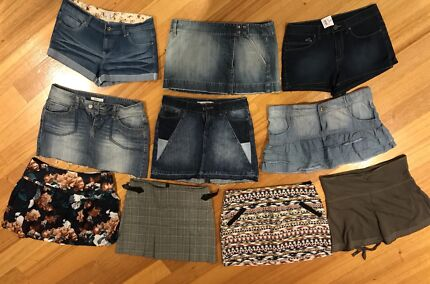 Collection of Size 12 ladies skirts/shorts