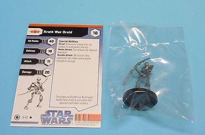 Star Wars Miniatures Jedi Academy Krath War Droid #08/40 NEW NIB Minis