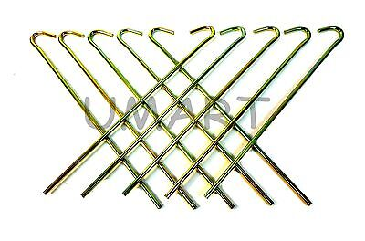 Metal Tent Peg Heavy Duty Pegs Stakes for Camping & Hiking Equipment  - Metal Stakes