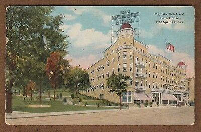 Postcard Majestic Hotel and Bath House Hot Springs, Ark