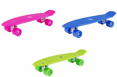 Hudora Retro Skate Board Skateboard Skateboards Minicruiser Penny Pink,Blau Grün ()