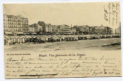 CPA - Carte Postale - Belgique - Heyst - Vue Générale de la Digue - 1902 (B9204)