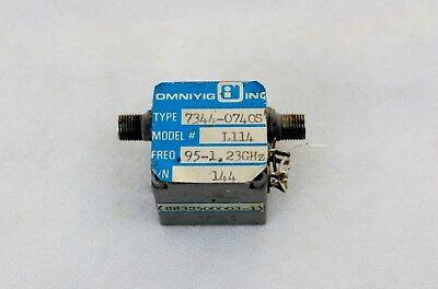 Omniyig Filter Model L114 0.95-1.23 Ghz Yig