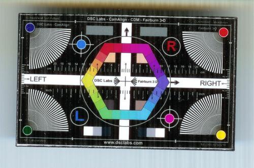 DSC Labs Cam Align CDM  Fairburn 3-D Chip Chart mini chart