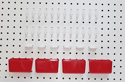 Plastic 34 Pc Peg Hook Kit Plastic Bin Pegboard Not Included