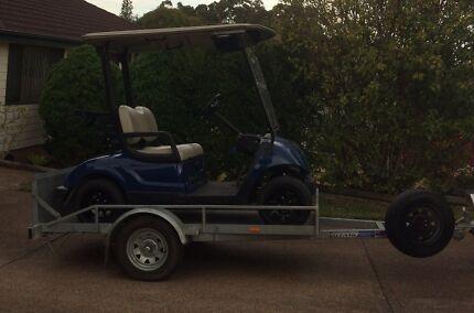 Yamaha Electric Golf cart and Trailer