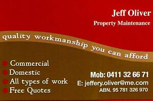 Jeff Oliver Property Maintenance. Handyman Padstow Bankstown Area Preview