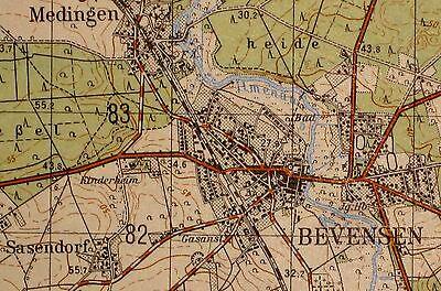 2928 Bevensen, topographische Karte, 1:50.000, gedruckt 1960, ungefaltet !!