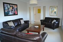 3 Matching Leather Lounges and Wooden Coffee Table Swansea Lake Macquarie Area Preview