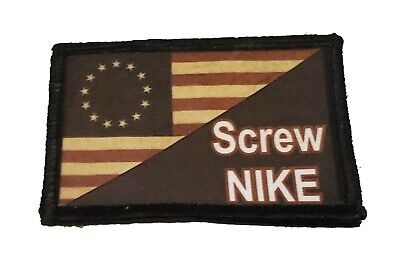 Betsy Ross Flag Screw Nike  Morale Patch Military Tactical Badge USA Flag Hook