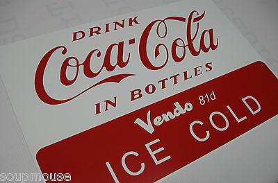Vintage,50's,Coca Cola,Bottles,Vendo,81-D,Vending Machine,Alum.Sign,12x18
