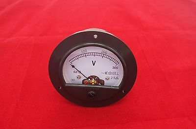 Ac 0-300v Round Analog Voltmeter Voltage Panel Meter Dia. 90mm Directly Connect