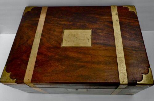 Antique Lap Travel Desk With Hidden Drawer