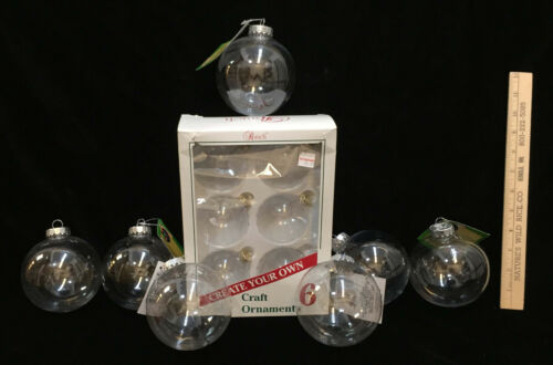 DIY Ornament Clear Fillable Paintable Christmas Tree Decoration Crafts Lot of 13