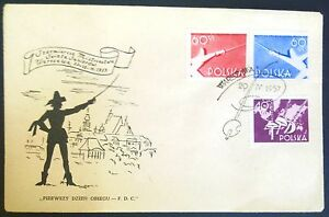 POLAND-STAMPS FDC Fi860-2 SC766-8 Mi1005-07 - Championships in fencing, 1957 - <span itemprop=availableAtOrFrom>Reda, Polska</span> - POLAND-STAMPS FDC Fi860-2 SC766-8 Mi1005-07 - Championships in fencing, 1957 - Reda, Polska