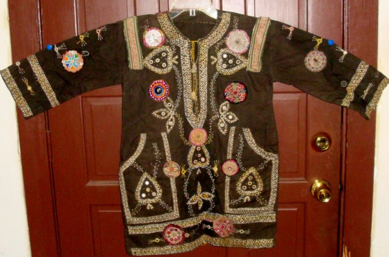 Vintage Tribal Hand Embroidered Top from Afghanistan Pakistan