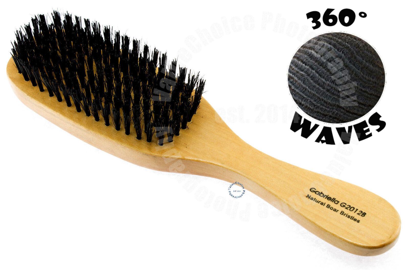 WAVE HAIR BRUSH WOOD HANDLE REINFORCED HARD BRISTLE MEN PROF