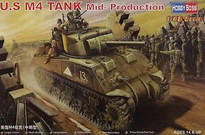 HOBBY BOSS 84802 1:48 U.S. M4 Tank - Mid Production