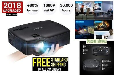 Oregon Scientific Full HD Video Projector 80% brighter Theater 1080p USB HDMI
