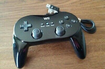 Official Nintendo Wii Pro Classic Controller Wired Black RVL-005 OEM