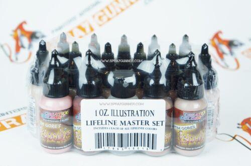 Createx Illustration Lifeline Master Set 1oz airbrushing 15 paints + 4012 +5092