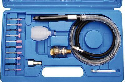 Druckluft-Stabschleifer-Set Micro 17 tlg mit vielen Schleifsteinen Öl-Nebelgerät