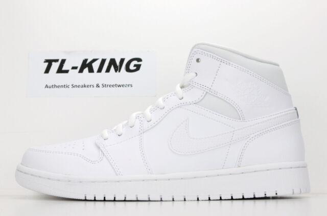 37d1b95359aa ... Nike Air Jordan 1 One Mid Retro Whitout Triple White Black 554724 110  Msrp  110 .