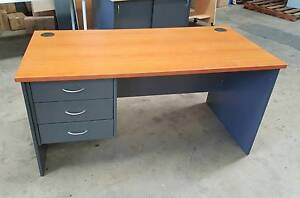 THREE DRAWER OFFICE DESK - work study student university uni Murarrie Brisbane South East Preview