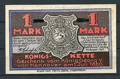 Scharmbeck 1 Mark Notgeld Schützenhof ohne zusätzlichen Aufdruck