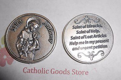 St. Anthony - Pray to Saint Anthony - Pocket Coin