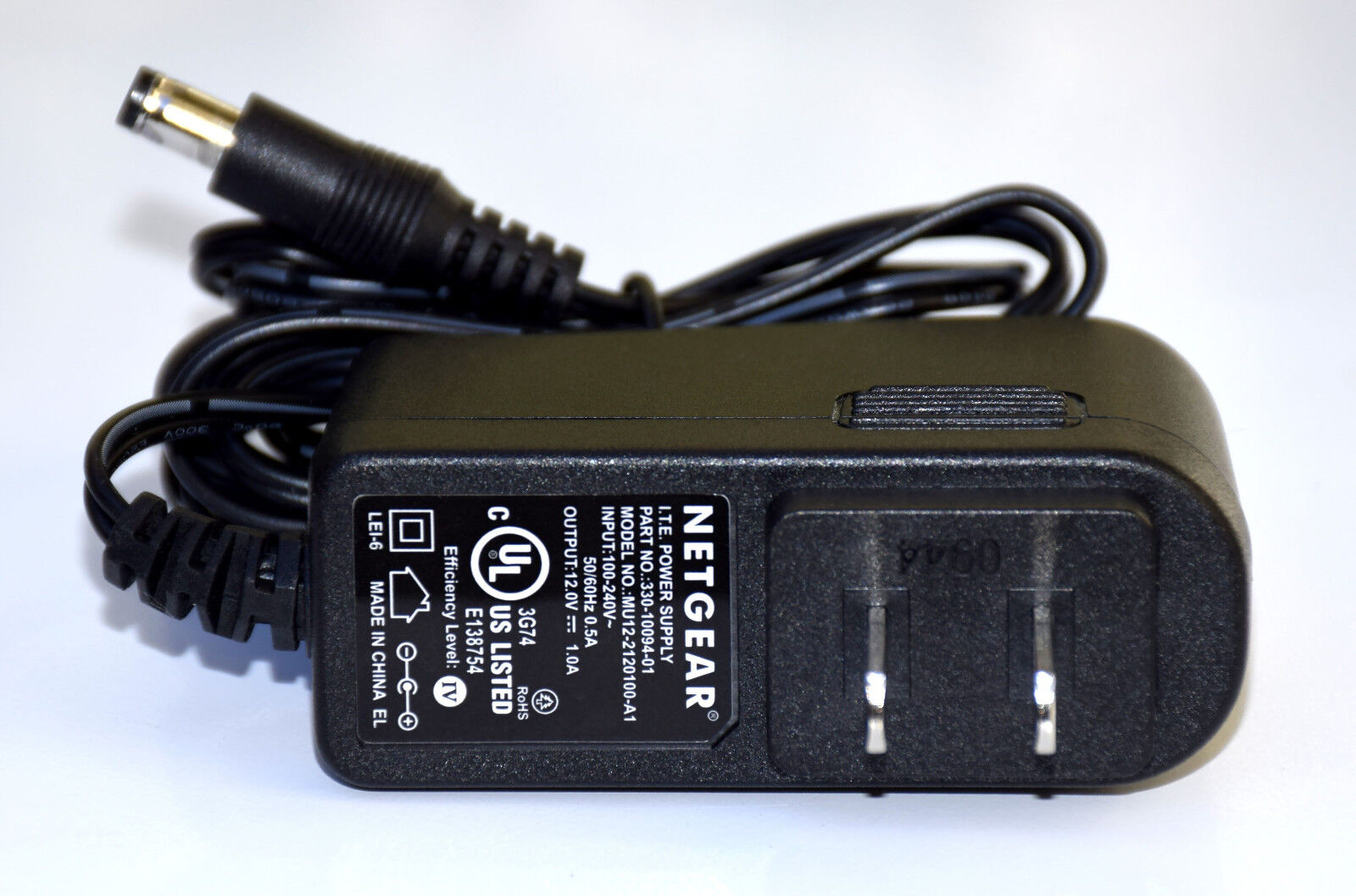 New Power Supply Adapter 100-240 volts Output 12VDC, 1.0A (5.5mm x 2.1mm)