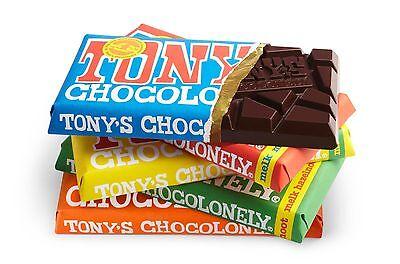 1 x 180 gram TONY CHOCOLONELY BEST TASTING DUTCH MILK CHOCOLATE !!!
