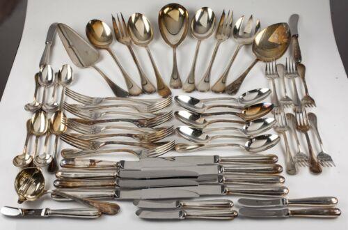 Christofle Perles Silverplate Flatware Set 56 Pieces Nice Set!