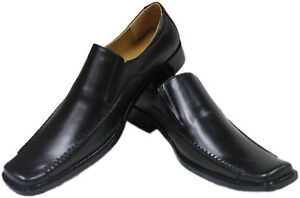 MENS LEATHER DRESS FORMAL CASUAL SHOES
