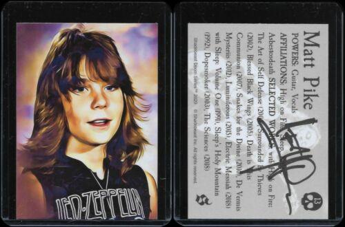 "Doom Metal Cards *Signed* ""Matt Pike"" (School Portrait Version) Sleep HOF Kalas"