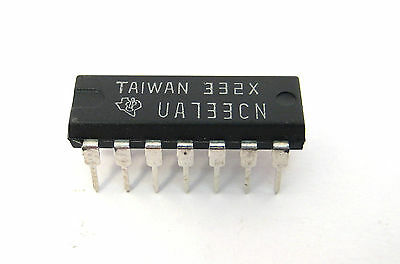 Ua733cn Differential Amplifier Ic 14-pin Dip