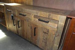3 DRAW 3 DOOR SOLID RUSTIC DESIGN IN DISTRESSED RECYCLED PINE Thebarton West Torrens Area Preview