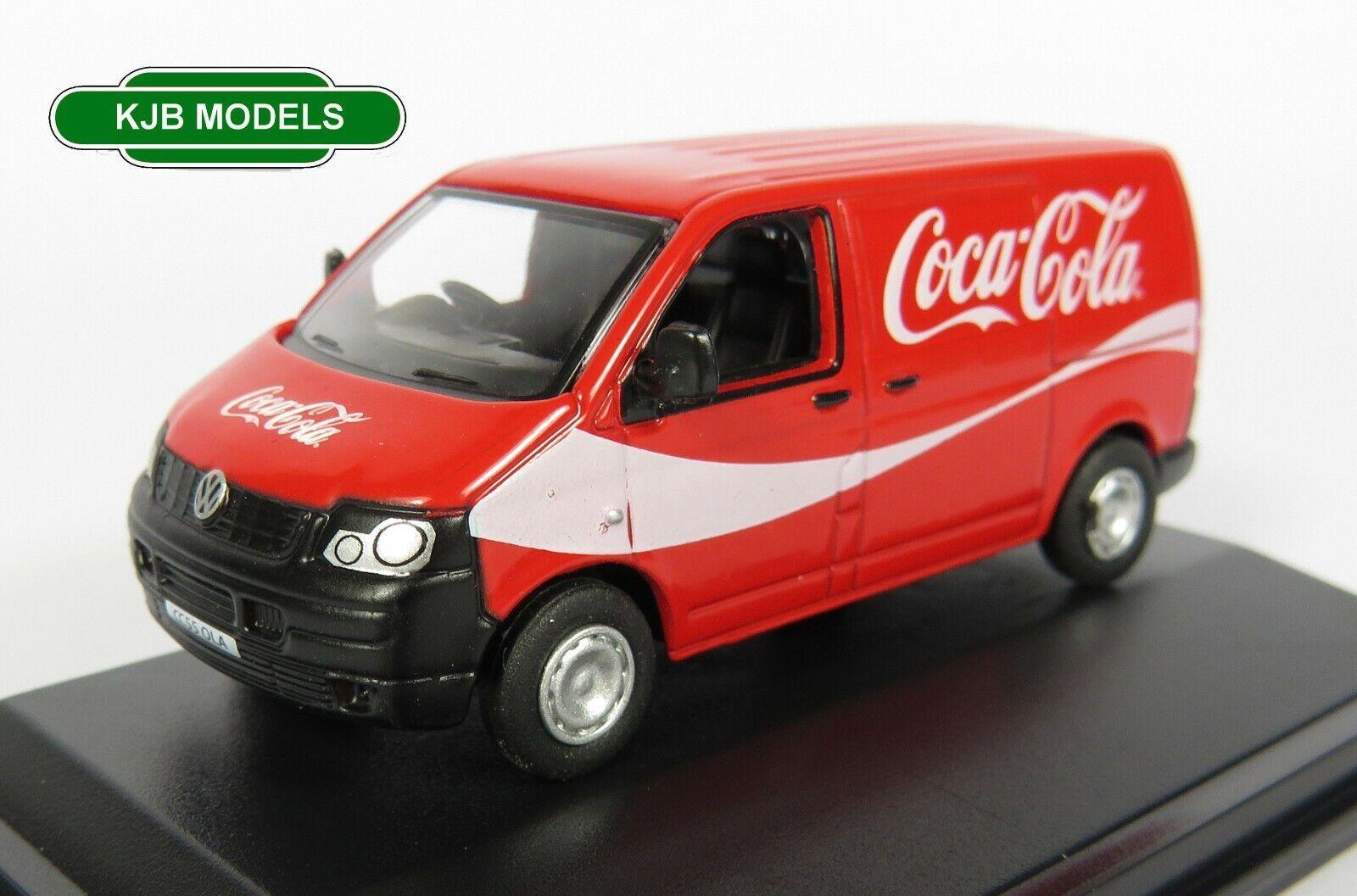 BNIB OO GAUGE OXFORD 1:76 76T5V003CC VW T5 Van Coca Cola