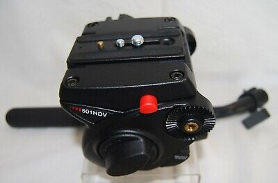 Manfrotto 501HDV Video Head w/Mounting Plate and Pan Handle in Excellent Shape!!