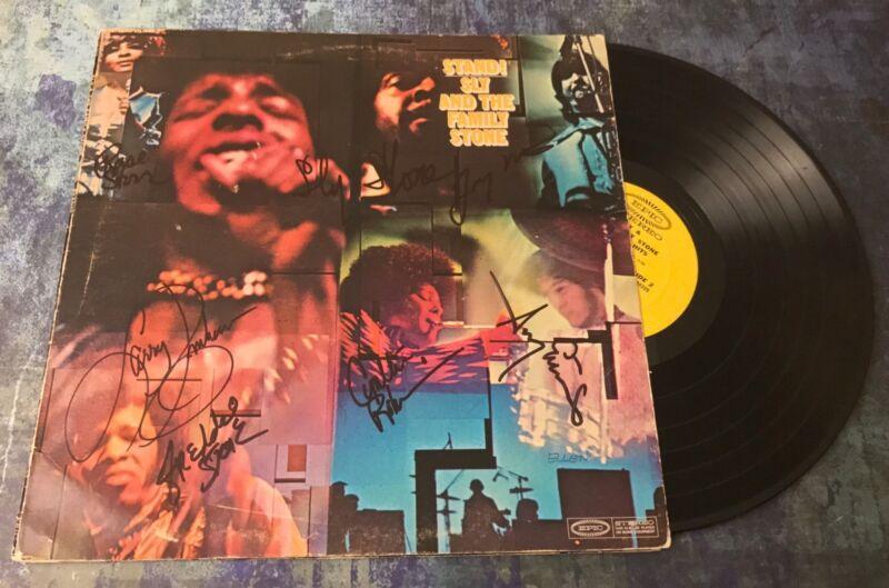 GFA Rare Band x7 * SLY AND THE FAMILY STONE * Signed Vinyl Record Album AD1 COA